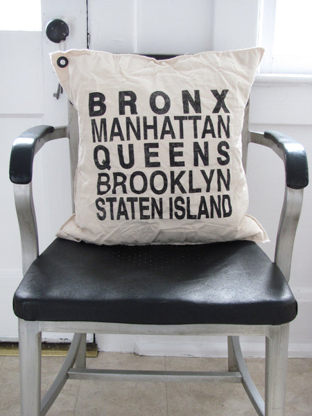 new york boroughs. pillow