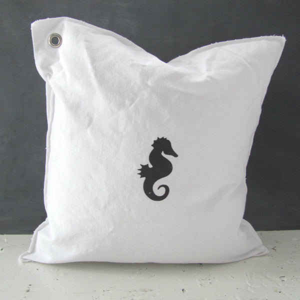 sal the seahorse mini pillow