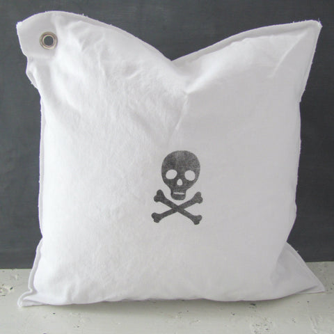 skip the skull mini pillow