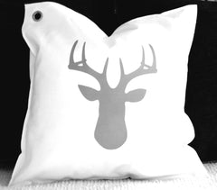 deer silhouette. pillow