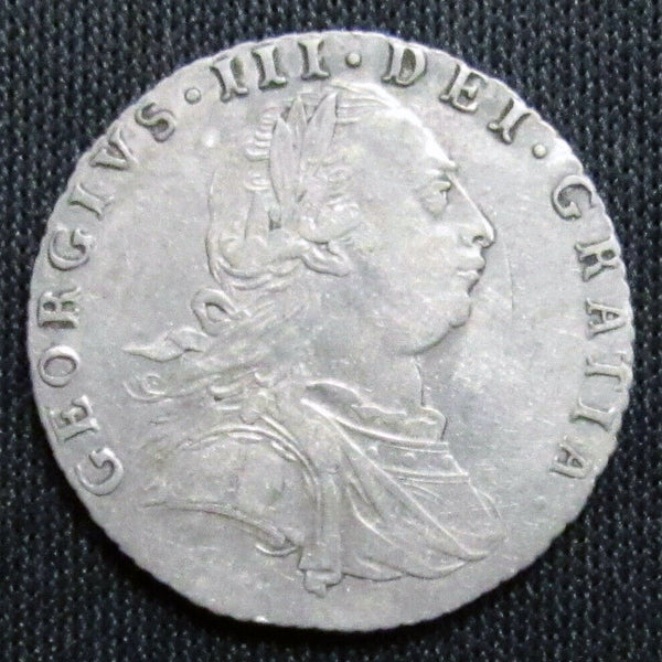 1787 Great Britain 6 Pence Sixpence Silver XF/AU Coin-World Coins & Paper Money-DJR Authentication
