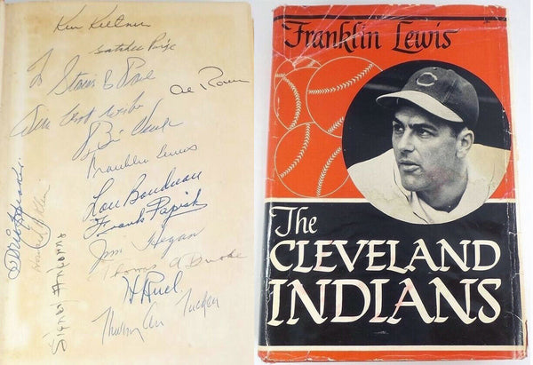 Cleveland Indians 1948-49 World Series Team Signed Book Speaker Paige PSA/DJR LOA/COA - DJR Exchange