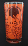 1964 NFL Football National Champions Cleveland Browns Signed Facsimile Glass - DJR Authentication An Appraisal & Authentication Co.