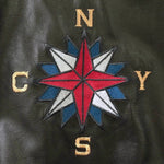 Crosby Stills Nash Young CSNY 1980's Concert Tour Crew Brown Leather Jacket - DJR Authentication