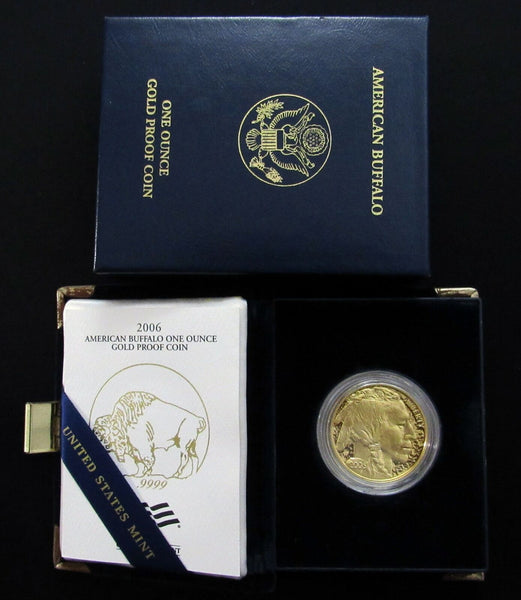 2006-W American Buffalo One Ounce 1oz US Mint Gold Proof Coin w/ COA - DJR Exchange