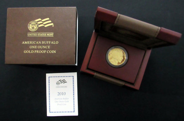 2010-W American Buffalo $50 1oz .999 Fine Gold US Mint Proof Coin w/ COA - DJR Authentication An Appraisal & Authentication Co.