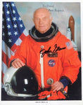 Astronaut John H. Glenn Jr. Signed 8x10 Color NASA Promo Photo AUTO DJR COA - DJR Exchange