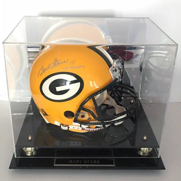 Bart Starr GB Packers Signed Riddell Full Size Pro Line Helmet DJR COA w/ Case - DJR Authentication An Appraisal & Authentication Co.