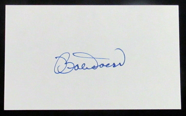 Bobby Doerr Boston Red Sox Signed 3x5 Index Card AUTO DJR COA - DJR Authentication An Appraisal & Authentication Co.