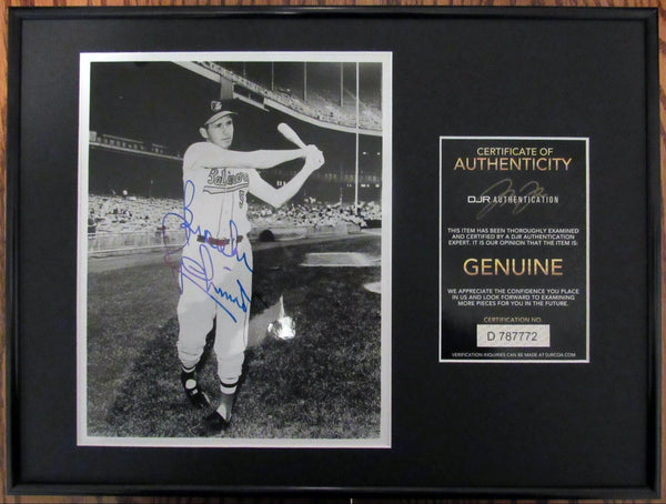 Brooks Robinson Baltimore Orioles HOF Signed Vintage Photo 12x16 Framed AUTO DJR COA - DJR Authentication An Appraisal & Authentication Co.