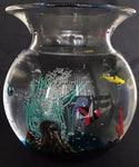 Extra Large Murano Art Glass Oggetti Fish Bowl Sculpture Elio Raffaeli Italy - DJR Authentication
