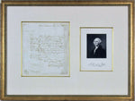 George Washington Authentic Signed Handwritten Letter Framed BAS LOA-Historical Memorabilia-DJR Authentication