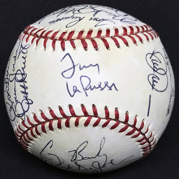 1996 St. Louis Cardinals Team Multi-Signed Rawlings Baseball 25 Sigs/3 HOF Smith Eckersley La Russa DJR LOA - DJR Authentication An Appraisal & Authentication Co.