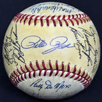 1985 Cincinnati Reds Team Multi-Signed Rawlings Baseball 31 Sigs Rose Perez Kaat DJR LOA - DJR Authentication An Appraisal & Authentication Co.