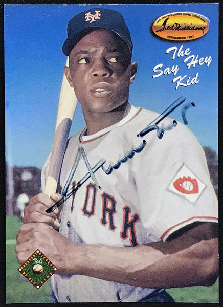 "1993 Willie Mays Signed #126 ""The Say Hey Kid"" Ted Williams Card Co. DJR COA - DJR Authentication An Appraisal & Authentication Co."