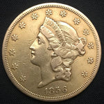1856-S Liberty Gold Double Eagle $20 XF US Coin - DJR Authentication An Appraisal & Authentication Co.