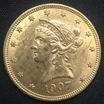 1907-P Liberty Gold Eagle $10 US Gem BU Coin - DJR Authentication An Appraisal & Authentication Co.