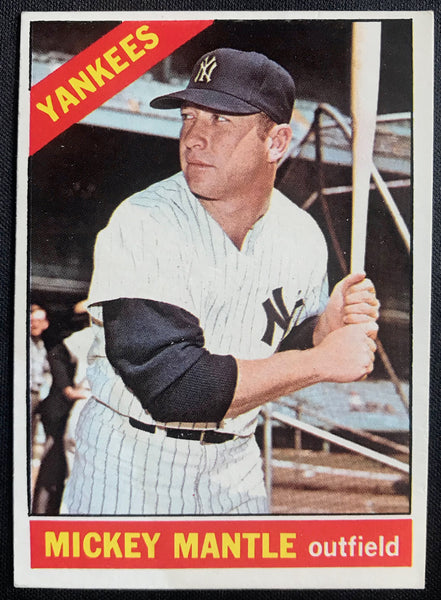 1966 Topps Mickey Mantle Yankees #50 VG-EX Baseball Card - DJR Authentication An Appraisal & Authentication Co.