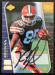 1999 Collector's Edge Kevin Johnson Browns #KJ Signed Rookie Football Card EX AUTO DJR COA - DJR Authentication An Appraisal & Authentication Co.