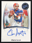 2007 Press Pass Chris Leak Gators Signed Rookie Football Card NM-MT AUTO - DJR Authentication An Appraisal & Authentication Co.