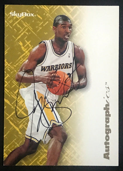 1996 Skybox Autographics Joe Smith Warriors Signed Rookie Basketball Card NM-MT AUTO DJR COA - DJR Authentication An Appraisal & Authentication Co.