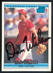 1992 Donruss Dan Wilson Reds #399 Signed Baseball Card NM-MT AUTO DJR COA-Baseball Memorabilia-DJR Authentication