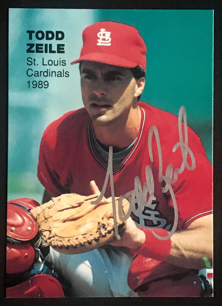 1989 Rookie Superstars Todd Zeile Cardinals Signed Baseball Card NM-MT AUTO DJR COA-Baseball Memorabilia-DJR Authentication