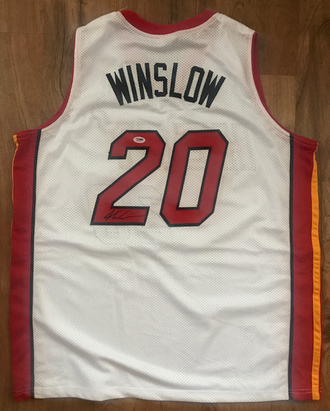 Justice Winslow Miami Heat Signed Sewn White Game Jersey AUTO PSA DJR COA - DJR Authentication An Appraisal & Authentication Co.