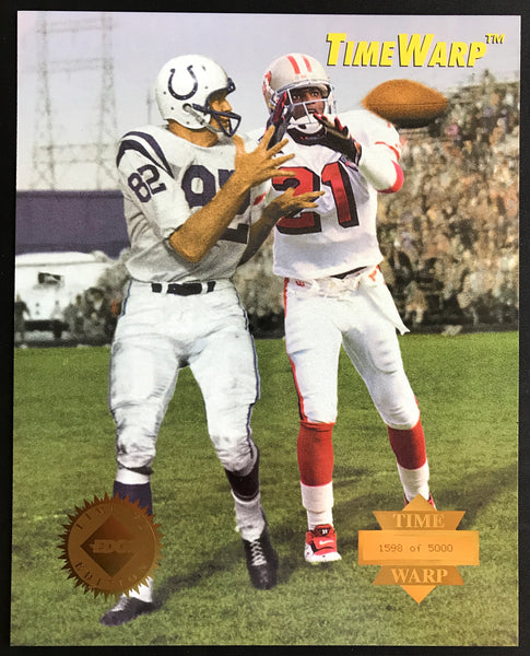 Raymond Berry & Deion Sanders Collector's Edge 1995 Limited Edition Time Warp Jumbos Photo Card 31 of 42 - DJR Authentication An Appraisal & Authentication Co.