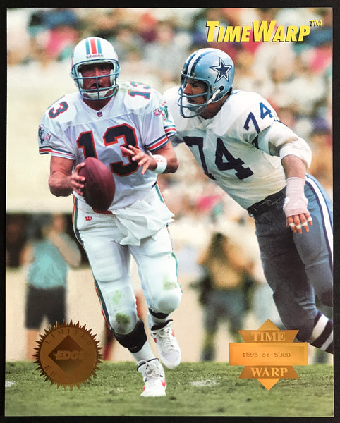 Dan Marino & Bob Lilly Collector's Edge 1995 Limited Edition Time Warp Jumbos Photo Card 38 of 42 - DJR Authentication An Appraisal & Authentication Co.