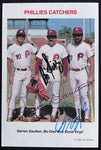 1985 Philadelphia Phillies Catchers Signed Tastykake Baseball Card AUTO NM-MT DJR LOA - DJR Authentication An Appraisal & Authentication Co.