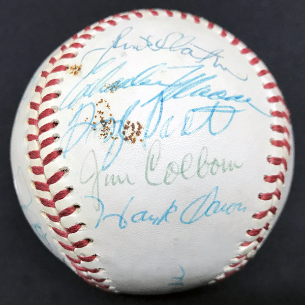 1976 Milwaukee Brewers Team Signed Spalding Official American League Baseball Aaron 755 Home Runs Yount (25 Signatures) DJR LOA - DJR Authentication An Appraisal & Authentication Co.