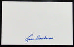 Lou Boudreau Indians/Red Sox Signed 3x5 Index Card AUTO DJR COA - DJR Authentication An Appraisal & Authentication Co.