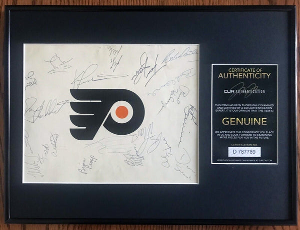 Philadelphia Flyers 1981-82 NHL Hockey Team Signed Program Cover Framed DJR COA-Hockey Memorabilia-DJR Authentication