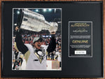 Sidney Crosby Pittsburg Penguins Signed Stanley Cup 8x10 Photo Framed DJR COA-Hockey Memorabilia-DJR Authentication