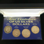Two Centuries of US Silver Dollars 1885 Morgan 1923 Peace 1987 Eagle 1971 Ike - DJR Exchange