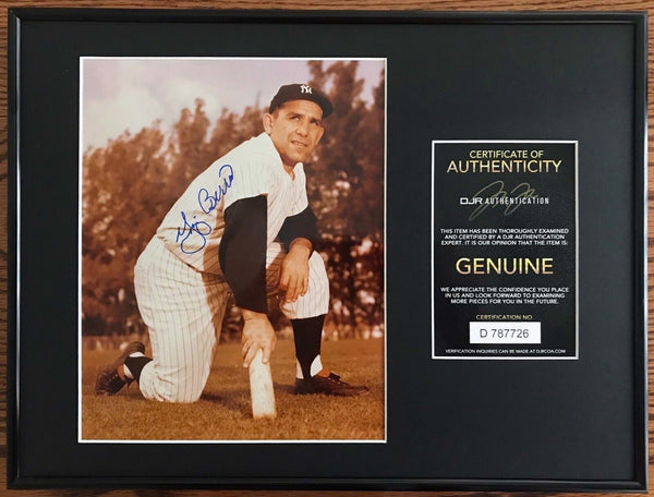 Yogi Berra New York Yankees HOF Signed Vintage 8x10 Photo Framed AUTO DJR COA - DJR Exchange