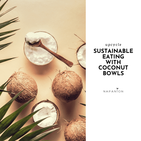 Eating from coconut bowls - not only trend but also sustainable