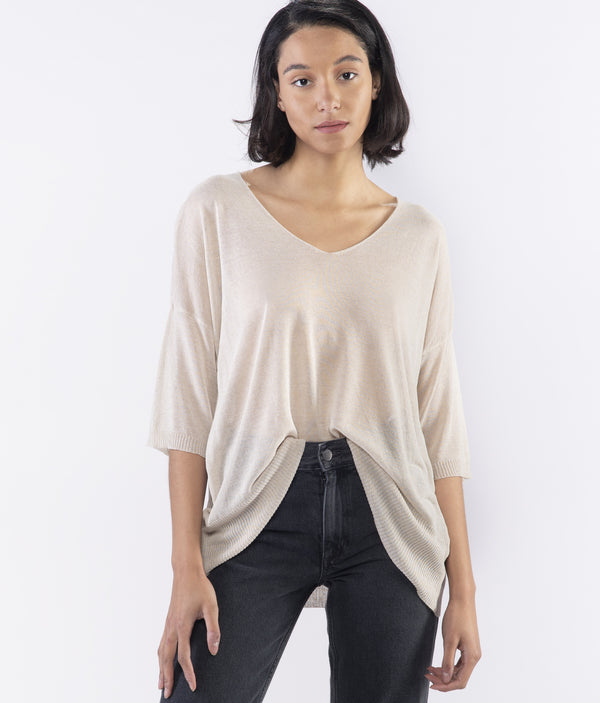 Jersey Vneck Light