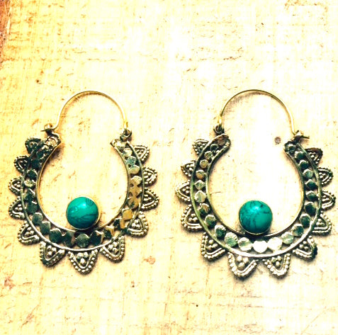 Egyptian Hoop Earrings