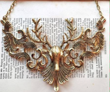 Art Nouveau Stag Necklace