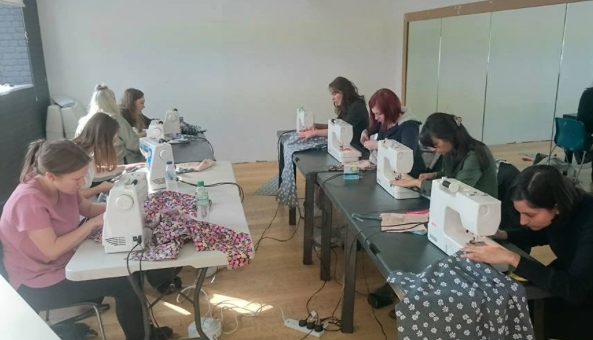 Beginners Dressmaking Class - 'making a recycled  Dress' in 6 hours