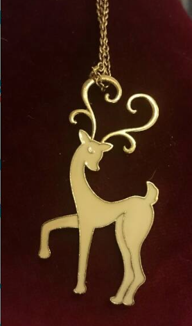 Art Nouveau deer Necklace