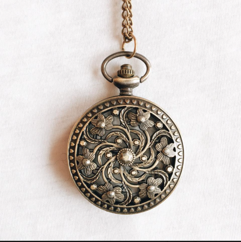 Art Nouveau Bronze Pocket Watch
