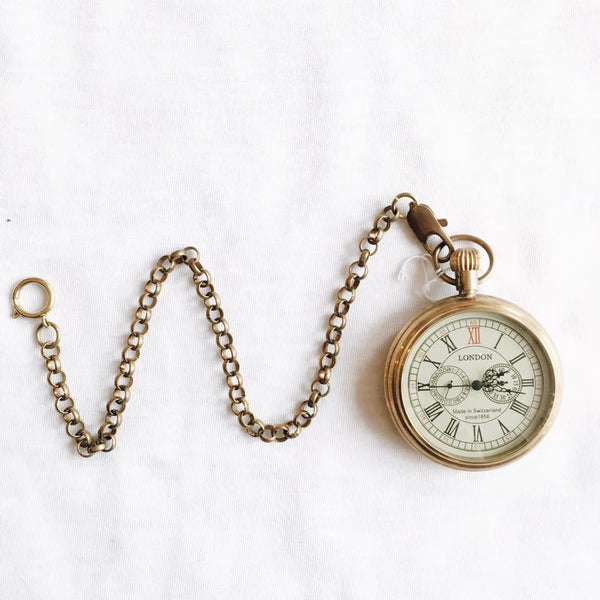 Victorian Mechanical brass Pocket Watch