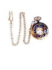 Art Deco Gold and Black Mechanical Pocket Watch