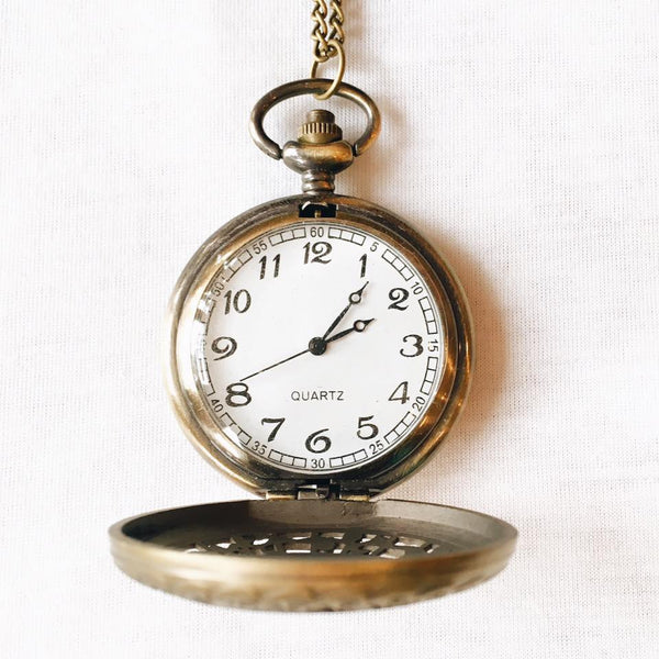 Swirl Flower Pocket Watch