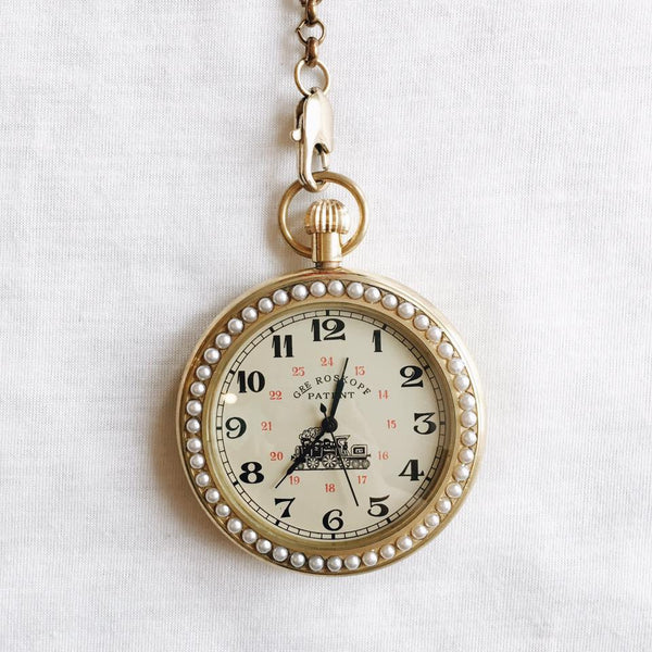French Pre Raphaelite Mechanical Pocket Watch