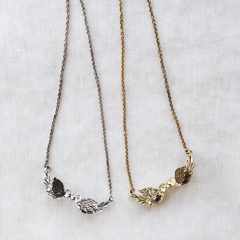 Kissing Birds Necklace
