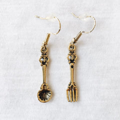 Mermaid fork and spoon Earrings